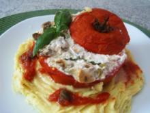 Gefüllte Tomaten --fleischlos - Rezept