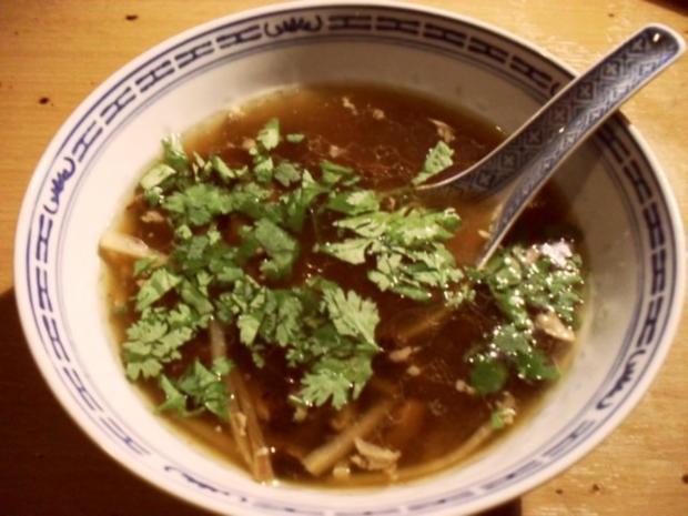 Asiatische Hühnersuppe mit Tongupilzen - Rezept