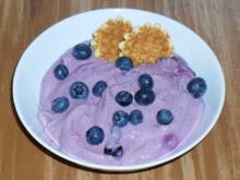 Blaubeer - Quarkspeise - Rezept