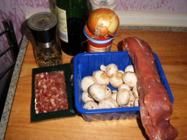 Schweinelende mit Champignons - Rezept - Bild Nr. 2