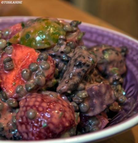 Sommerlich-fruchtiger Puy-Linsen-Salat - Rezept