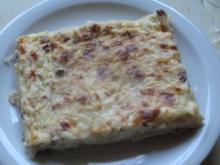 Zwiebelkuchen vom Blech mit viiiel Belag - Rezept