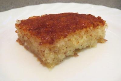Backen: Kokos-Mandel-Grieß-Kuchen - Rezept