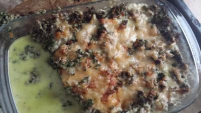 Hackfleisch - Spinat - Auflauf - Rezept