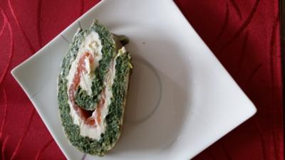 Lachs-Spinat-Rolle - Rezept