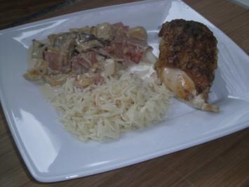 Hähnchenbrust mit Haut und Knochen - Rezept