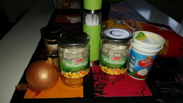 Nudeln u. Pasta: Bandnudeln tummeln sich in einer Pfifferling - Rosmarin - Sahne - Soße - Rezept - Bild Nr. 2
