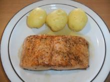 Fisch: Lachssteak aus dem Filet, gebraten - Rezept