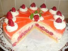 Himbeere - Sahnequark Torte mit Lemon Curd Füllung - Rezept
