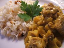 Fisch: Wels-Curry mit Cashew-Reis - Rezept