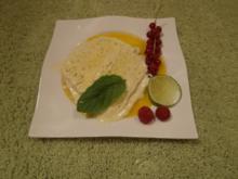 Parfait mit dem Hauch der Limette auf Mangospiegel - Rezept