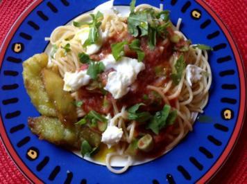 Melone mit Spaghetti - Rezept