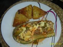 Hackfleisch: Gefüllte Zucchinis im Ofen gebacken - Rezept