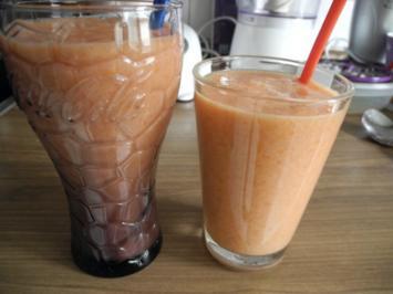 Smoothie : Melonen - Bananen - Aprikosen - Smoothie - Rezept