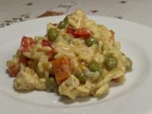 Curry-Reissalat mit Hähnchenfilet - Rezept