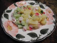 Vegetarisch : Bunter Kartoffelsalat mit Ziegen - Feta - Rezept