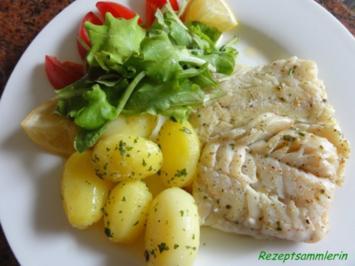 Fisch:   KABELJAU  gebraten - Rezept