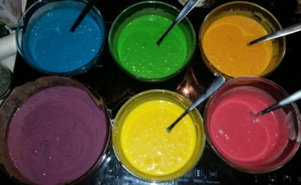 Regenbogen-Torte - Rezept - Bild Nr. 4