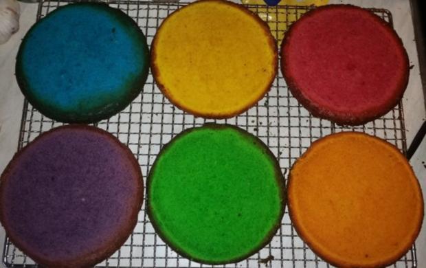 Regenbogen-Torte - Rezept - Bild Nr. 5