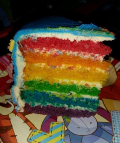 Regenbogen-Torte - Rezept - Bild Nr. 10