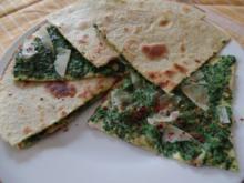 Spinat -Quesadilla (Käse Tortilla ) - Rezept
