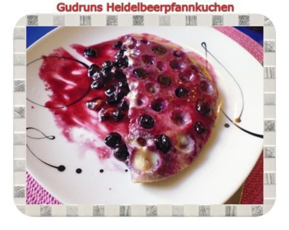 Kuchen: Heidelbeerpfannkuchen - Rezept