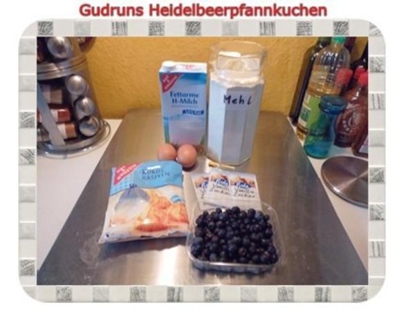 Kuchen: Heidelbeerpfannkuchen - Rezept - Bild Nr. 2