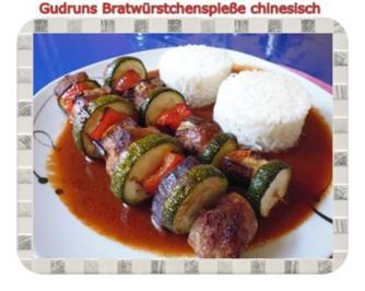 Fleisch: Bratwurstspieße chinesisch - Rezept