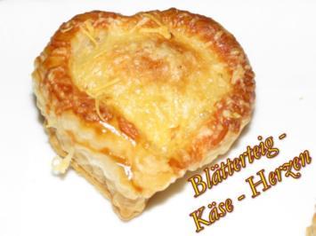 Rezept: Sisserl's ~ Blätterteig - Käse - Herzen