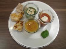 Suppentrilogie aus Möhren, Fenchel & Grünkern-Spinat, 3x Brot mit Walnuss, Chili & Tomate - Rezept