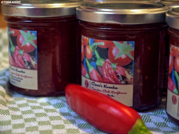 Tomaten-Chili-Konfitüre - Rezept