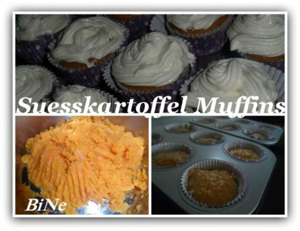 BiNe` S SUESSKARTOFFEL MUFFINS - Rezept