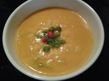 Möhren-Kokos-Suppe - Rezept