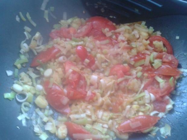 Lauch-Tomaten-Spaghettie - Rezept - Bild Nr. 2