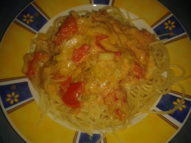 Lauch-Tomaten-Spaghettie - Rezept - Bild Nr. 4