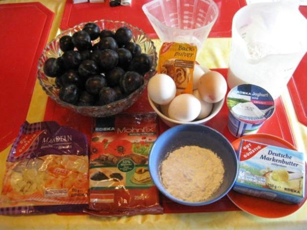 Mohn - Blechkuchen mit Pflaumen - Rezept - Bild Nr. 2