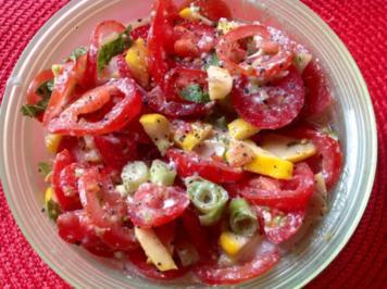 Rezept: Kürbis-Tomatensalat