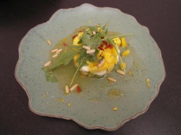 Mango-Mozzarella-Avocado Salat - Rezept