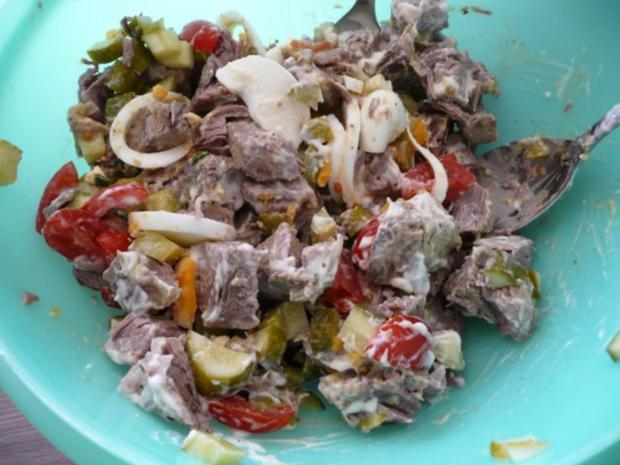 Rindfleisch - Salat An Bratkartoffeln. - Rezept - Bild Nr. 3
