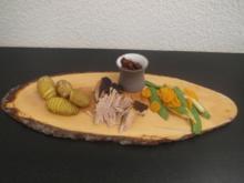Pulled Pork mit Fächerkartoffeln, Frühlingsgemüse und selbstgemachter BBQ Sauce - Rezept