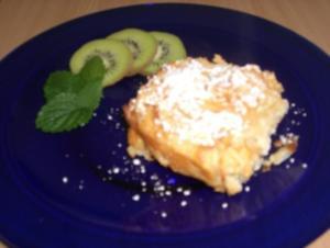 Reisauflauf mit Topfen und Äpfel - Rezept