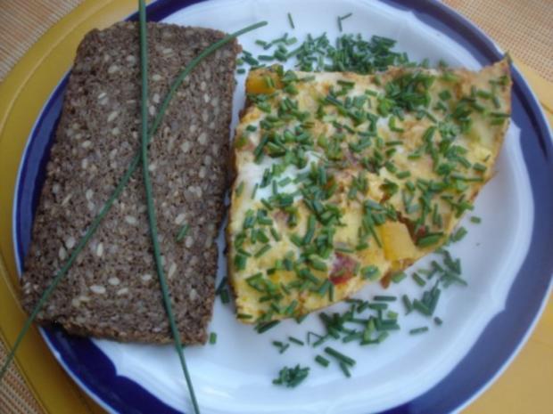 Pikantes Omelett mit Wachteleiern - Rezept