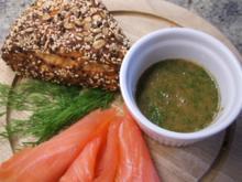 Soßen: Honig-Senf-Soße zum Beispiel zu Graved Salmon - Rezept