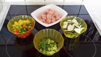 Hähnchenbrust - Zucchini - Paprika - Pfanne - Rezept