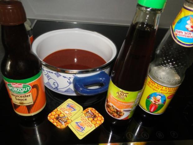 Gegrillte Schälrippchen mit selbstgemachter BBQ Sauce - Rezept - Bild Nr. 12