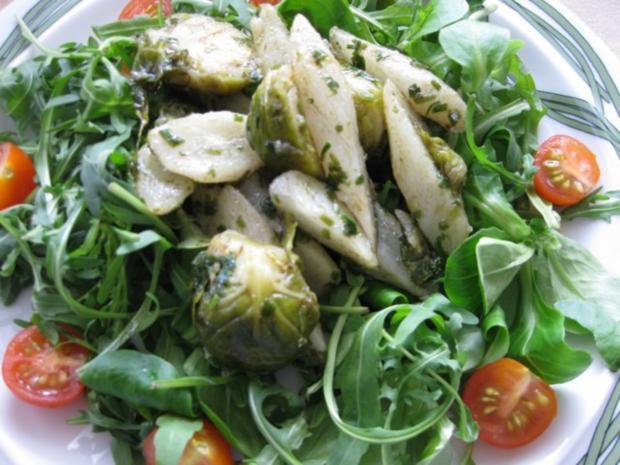 Lauwarmer Schwarzwurzel-Rosenkohl-Salat - Rezept - Bild Nr. 2
