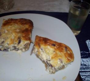 Speck-Zwiebel-Kuchen auf Roggenteig - Rezept