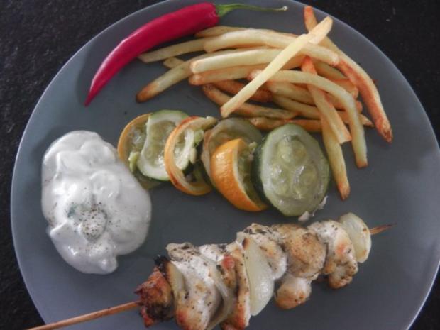 Gyros-Spieß vom Huhn mit Tzatziki und geröstetem Zucchini-Gemüse - Rezept - Bild Nr. 12