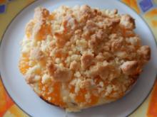 Quark-Streuseltaler mit Mandarinen - Rezept