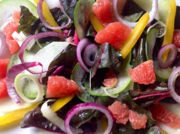 Gebackener Pfirsich auf Salat - Rezept - Bild Nr. 8